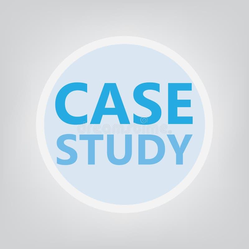 Conceito do estudo de caso ilustração royalty free