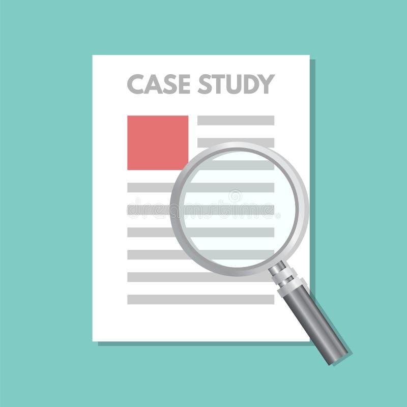 Conceito do estudo de caso com lupa ilustração royalty free