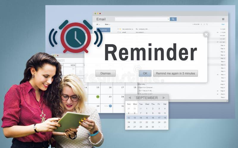 Conceito do evento do calendário do planejador do lembrete foto de stock