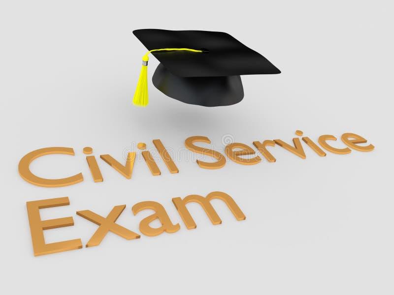 Conceito do exame do serviço civil ilustração do vetor
