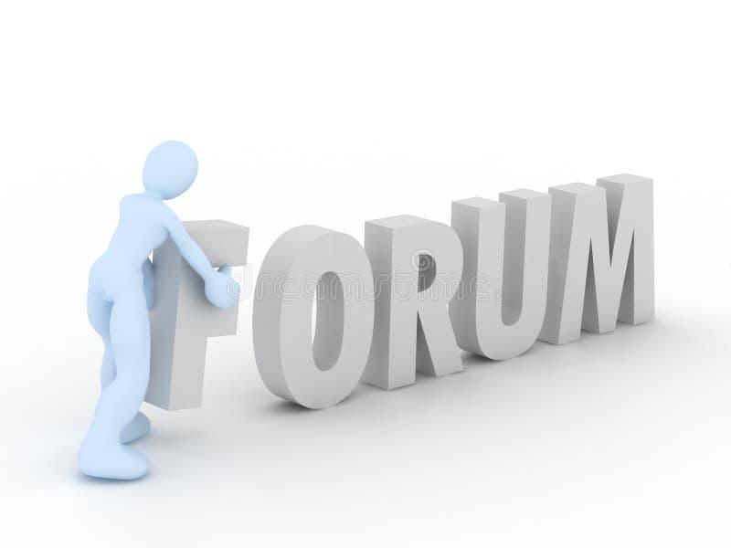 Conceito do fórum ilustração do vetor