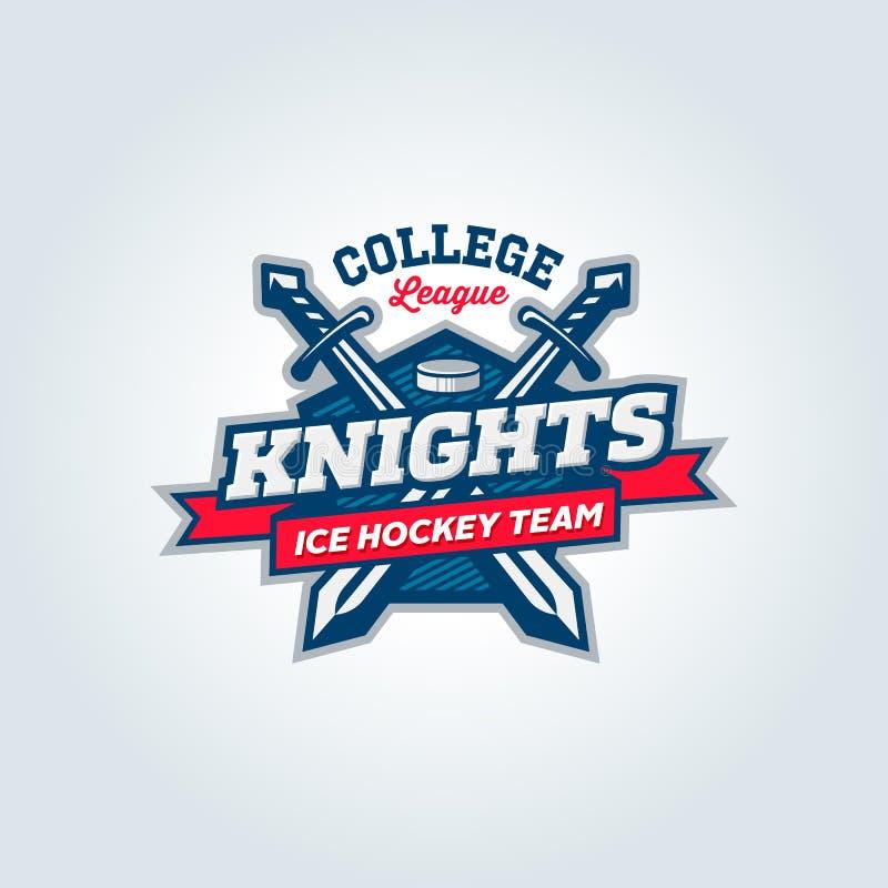 Conceito do fato do logotipo da equipe de esporte da liga da faculdade ilustração royalty free
