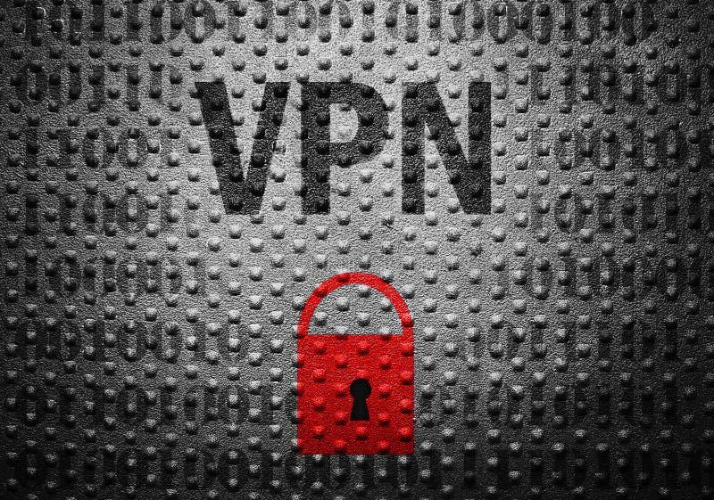 Conceito do fechamento da segurança de VPN foto de stock