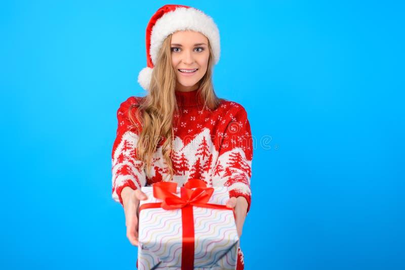 Conceito do Feliz Natal e do ano novo feliz! B atrativo bonito fotos de stock royalty free