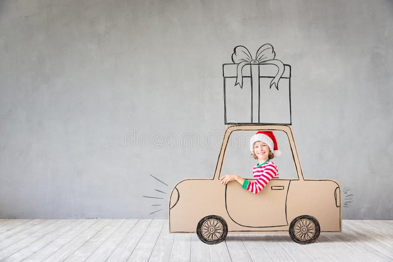 Conceito do feriado de inverno do Xmas do Natal foto de stock