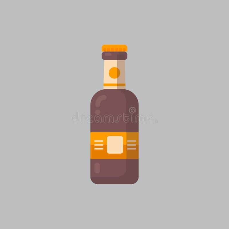 Conceito do festival de Oktoberfest do ícone da garrafa de cerveja ilustração stock