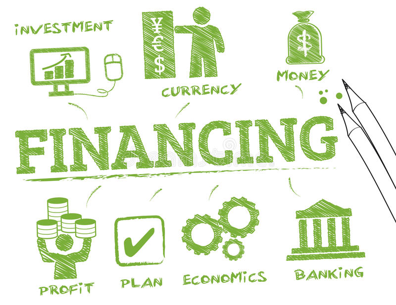 Conceito do financiamento ilustração royalty free