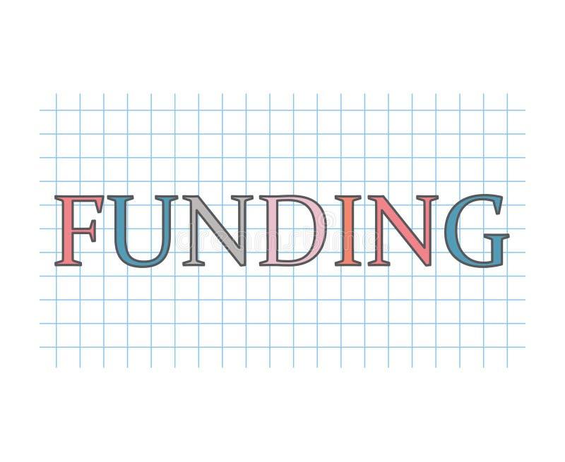 Conceito do financiamento ilustração do vetor