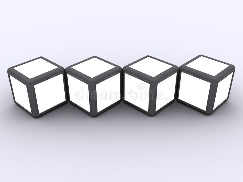 Conceito do frame da foto do indicador do cubo ilustração stock