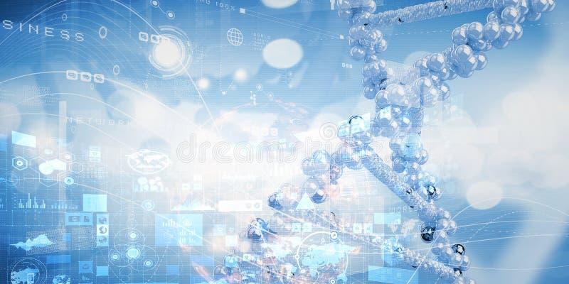 Conceito do fundo da biotecnologia ilustração royalty free
