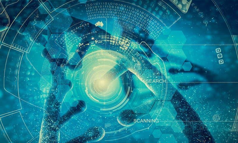 Conceito do fundo da biotecnologia ilustração stock