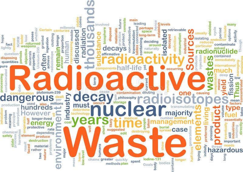 Conceito do fundo do desperdício radioativo ilustração royalty free