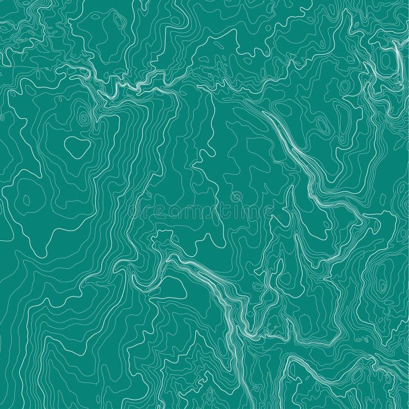 Conceito do fundo do mapa topográfico ilustração do vetor