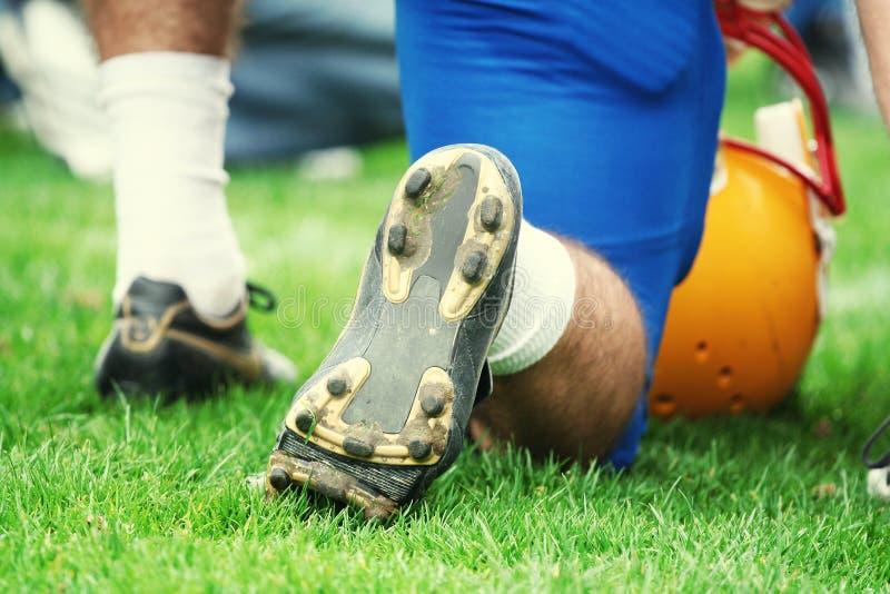 Conceito do futebol americano imagem de stock