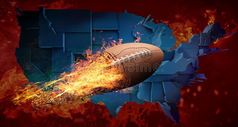 Conceito do futebol americano ilustração stock