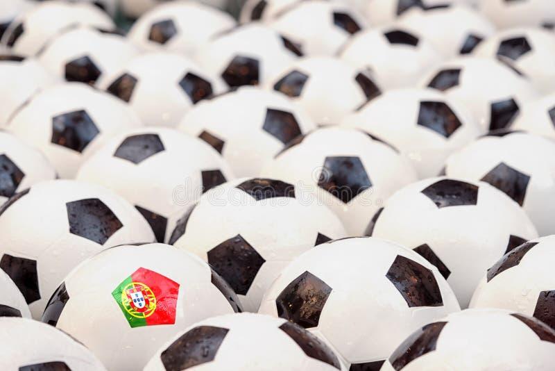 Conceito do futebol em Portugal foto de stock royalty free