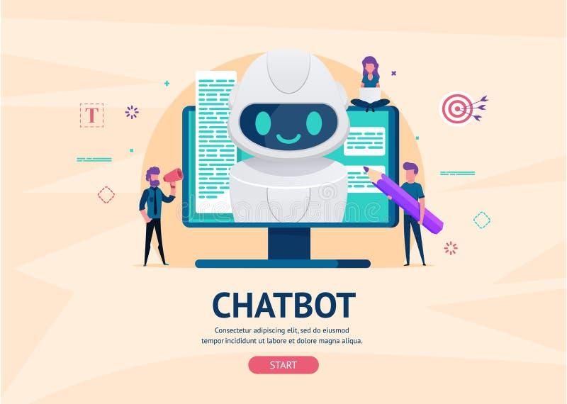 Conceito do futuro de Chatbot ilustração do vetor