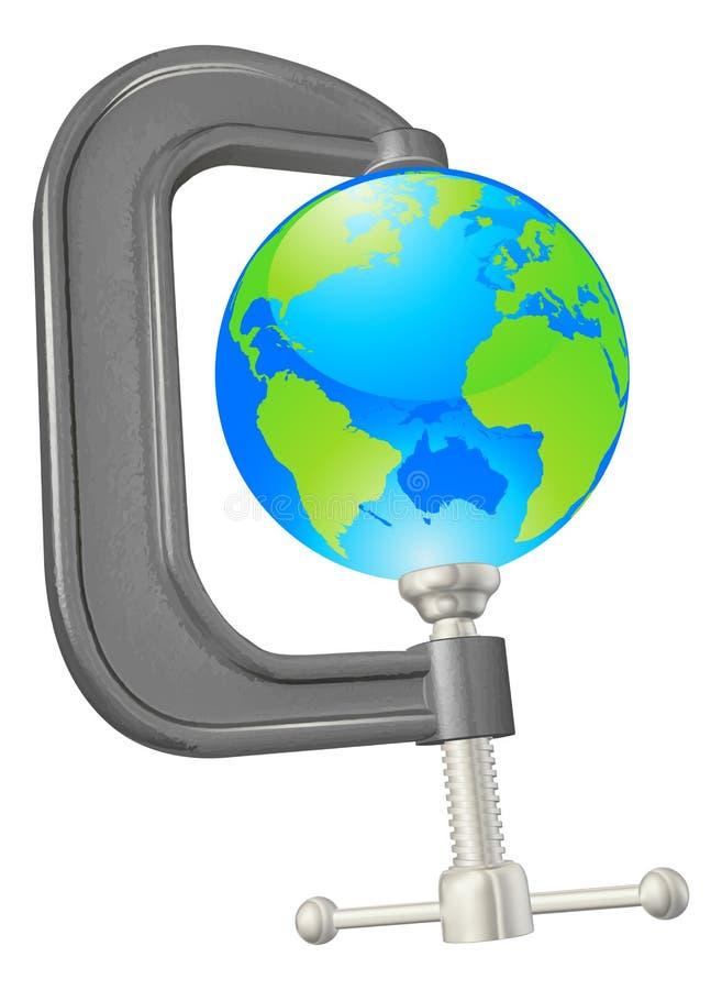 Conceito do globo da braçadeira ilustração royalty free