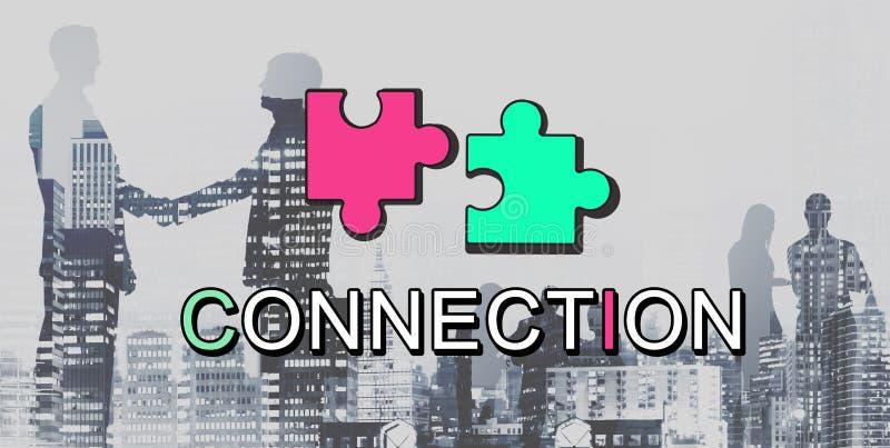 Conceito do gráfico da cooperação da conexão da realização ilustração royalty free