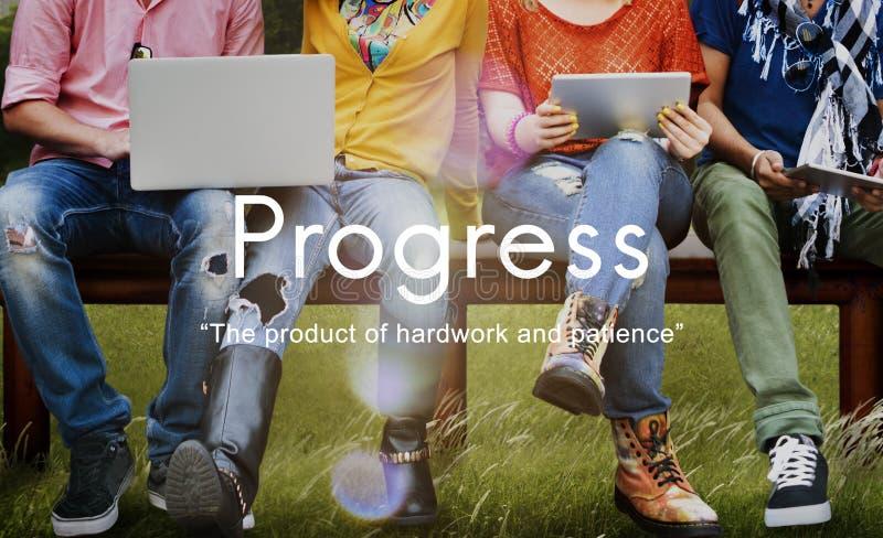 Conceito do gráfico da paciência de Hardwork do produto do progresso fotografia de stock