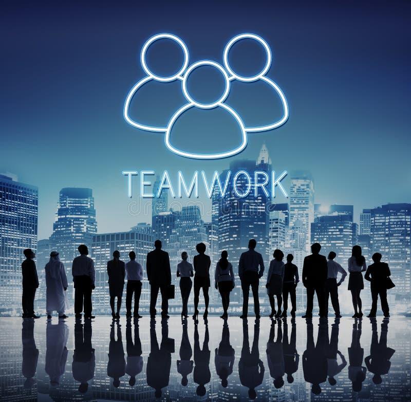 Conceito do gráfico de Alliance do apoio dos trabalhos de equipa da parceria imagem de stock