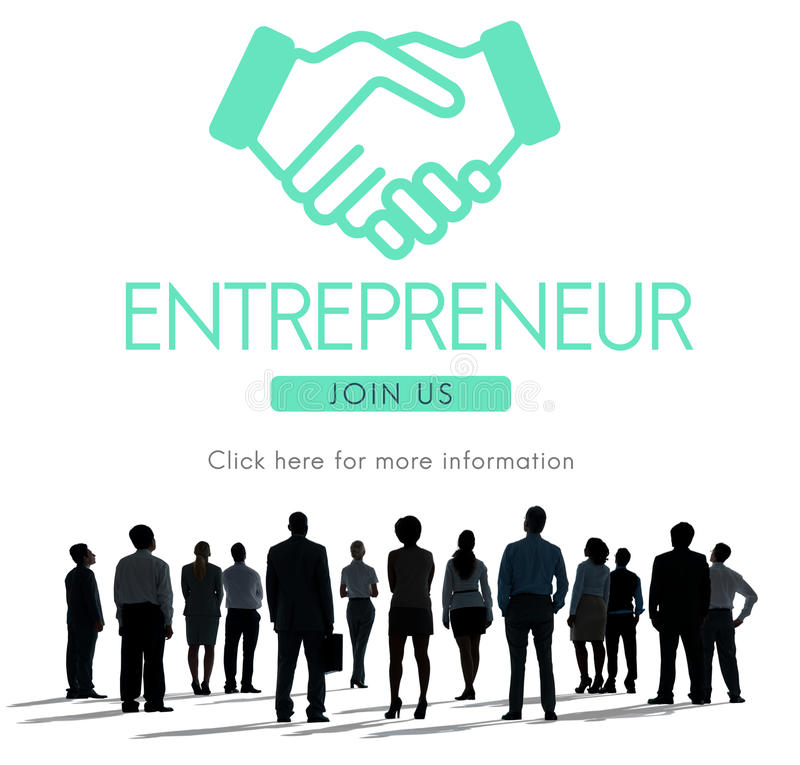 Conceito do gráfico de Business Venture Handshake do empresário fotos de stock