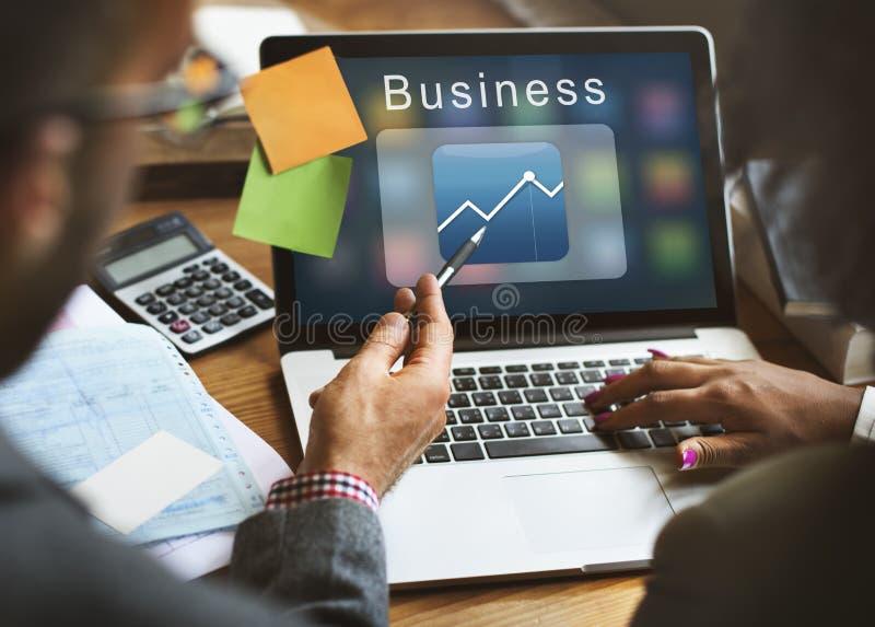 Conceito do gráfico de uma comunicação empresarial da aplicação foto de stock royalty free
