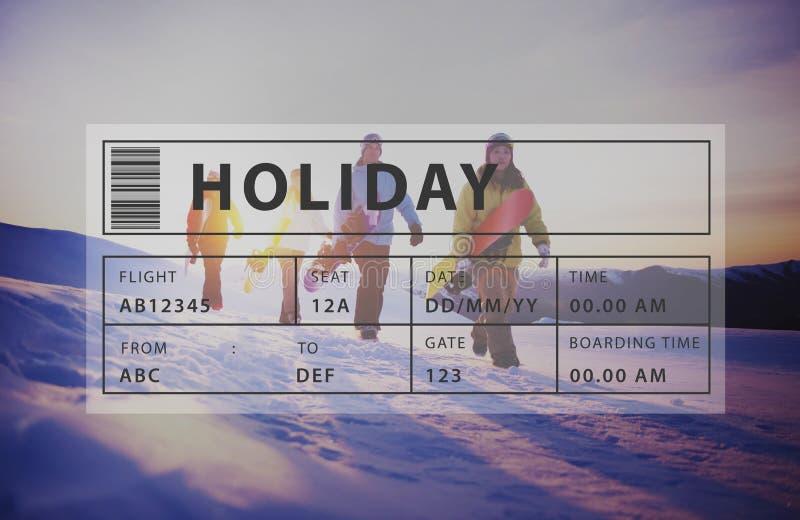 Conceito do gráfico do abrandamento do turismo do curso do feriado foto de stock