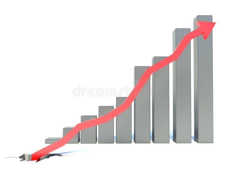 Conceito do gráfico do crescimento ilustração stock