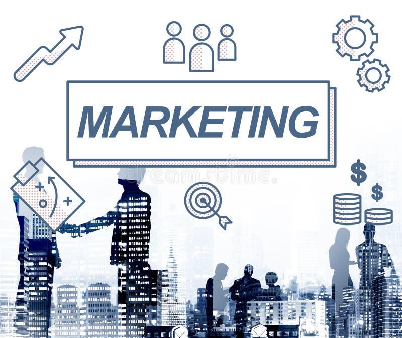 Conceito do gráfico do produto comercial do negócio do mercado ilustração stock