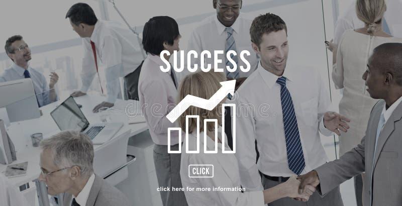 Conceito do gráfico do relatório de progresso do negócio foto de stock royalty free