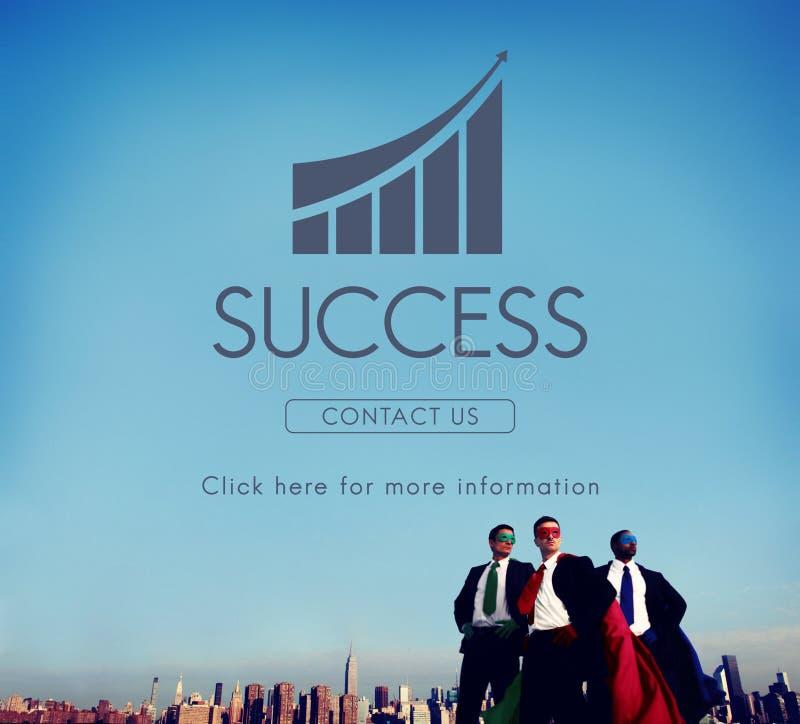 Conceito do gráfico do relatório do sucesso comercial fotografia de stock royalty free