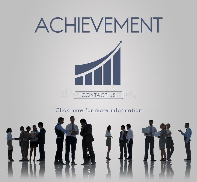 Conceito do gráfico do relatório do sucesso comercial foto de stock royalty free