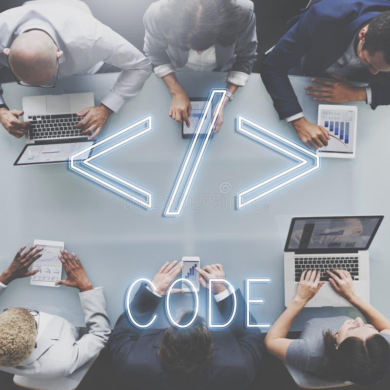 Conceito do gráfico do símbolo do HTML do código de computador fotografia de stock royalty free