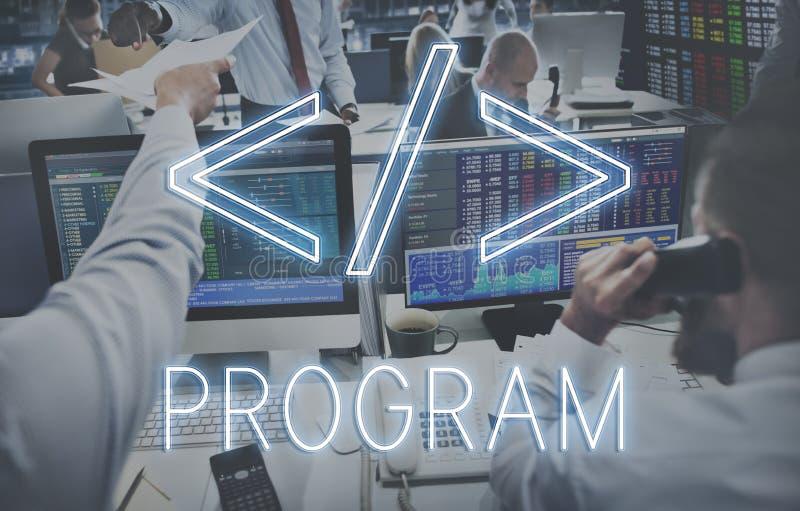 Conceito do gráfico do símbolo do HTML do código de computador fotos de stock royalty free