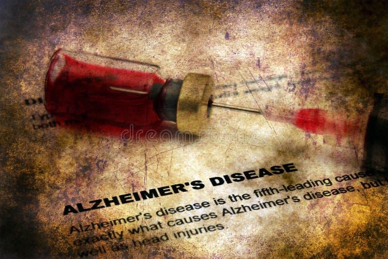 Conceito do grunge da doença de Alzheimer foto de stock royalty free