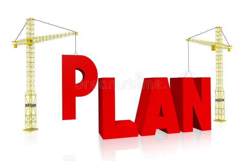 Conceito do guindaste - plano ilustração do vetor