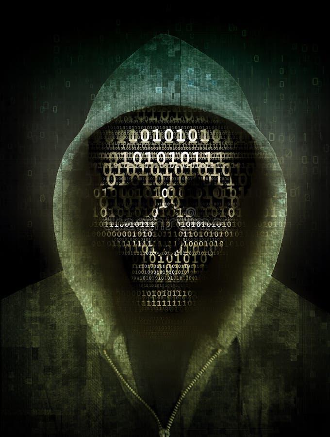 Conceito do hacker ilustração royalty free