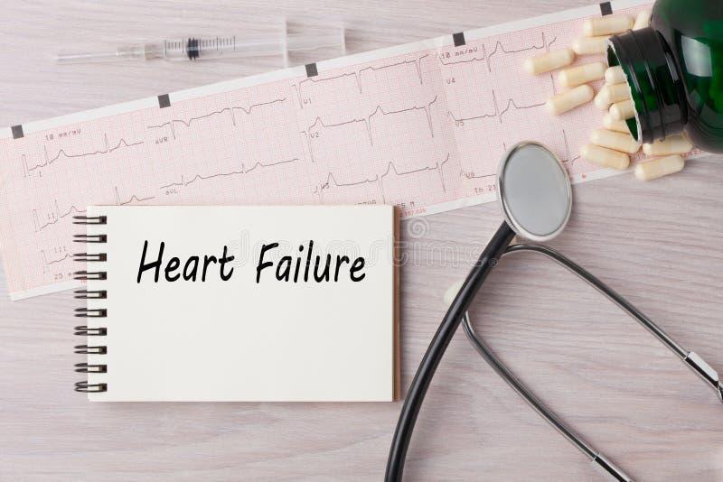 Conceito do HF da parada cardíaca imagem de stock
