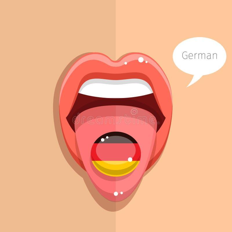 Conceito do idioma alemão ilustração stock
