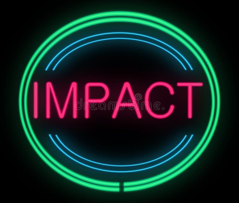 Conceito do impacto. ilustração stock