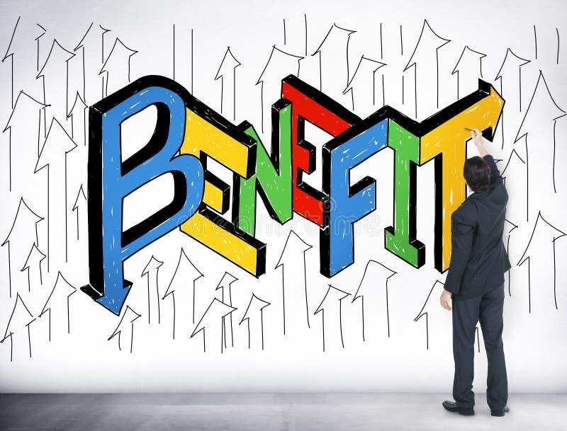Conceito do incentivo da vantagem do objetivo das recompensas dos benefícios ilustração do vetor