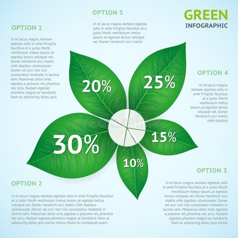Conceito do infographics do verde de Eco ilustração do vetor