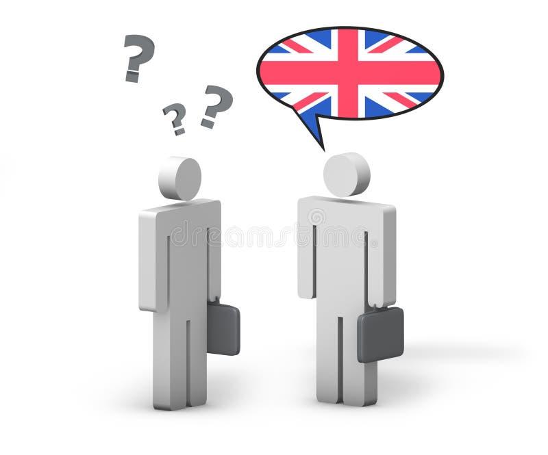 Conceito do inglês de negócio ilustração do vetor