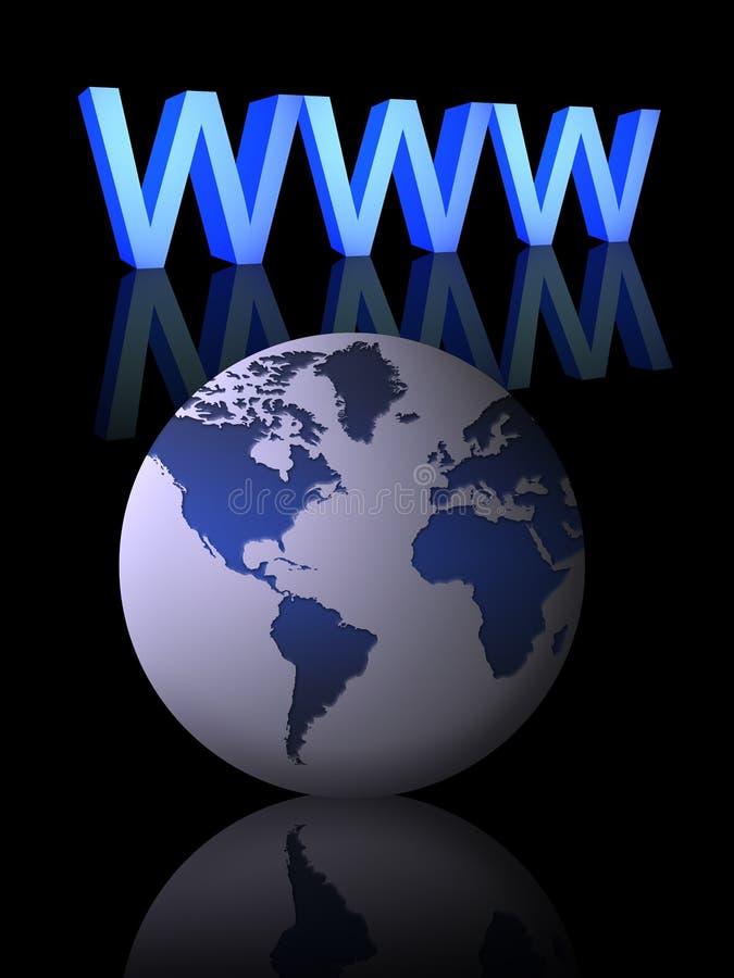 Conceito do Internet (01) ilustração stock