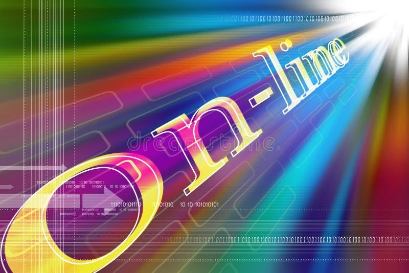 Conceito do Internet ilustração stock