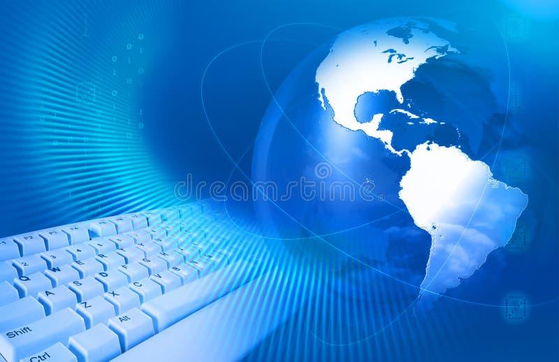 Conceito do Internet com teclado   ilustração royalty free