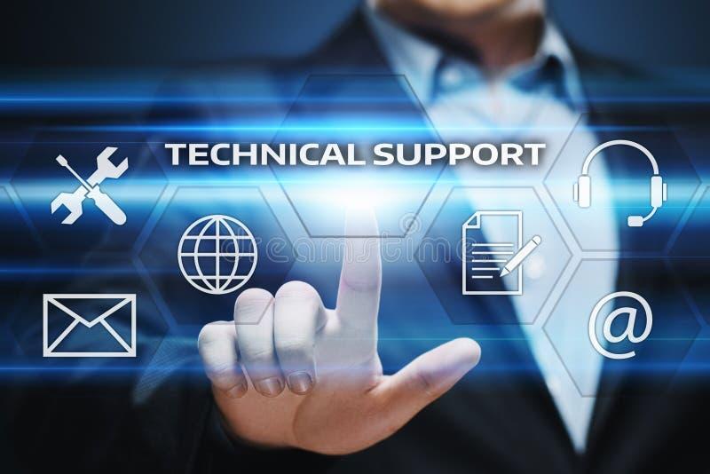 Conceito do Internet da tecnologia do negócio de serviço ao cliente do suporte laboral imagem de stock