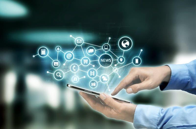 Conceito do Internet e da tecnologia da informação imagem de stock royalty free