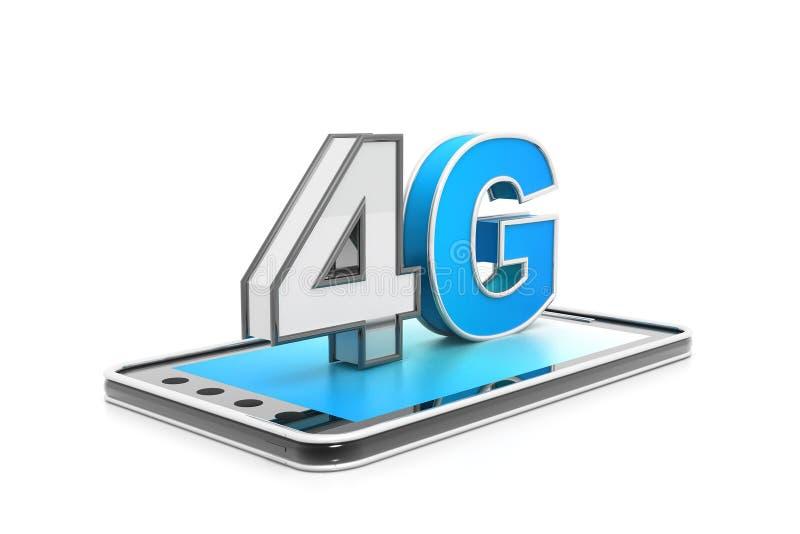 conceito do Internet 4g de alta velocidade ilustração stock